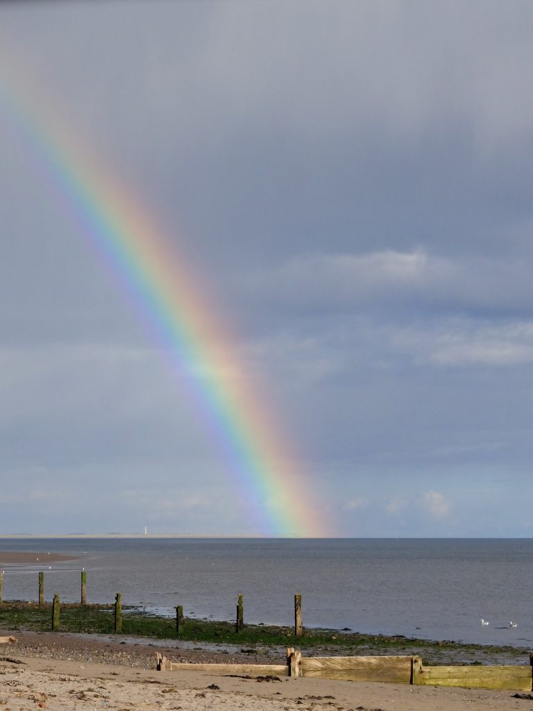 Rainbow on Broughty Ferry Beach