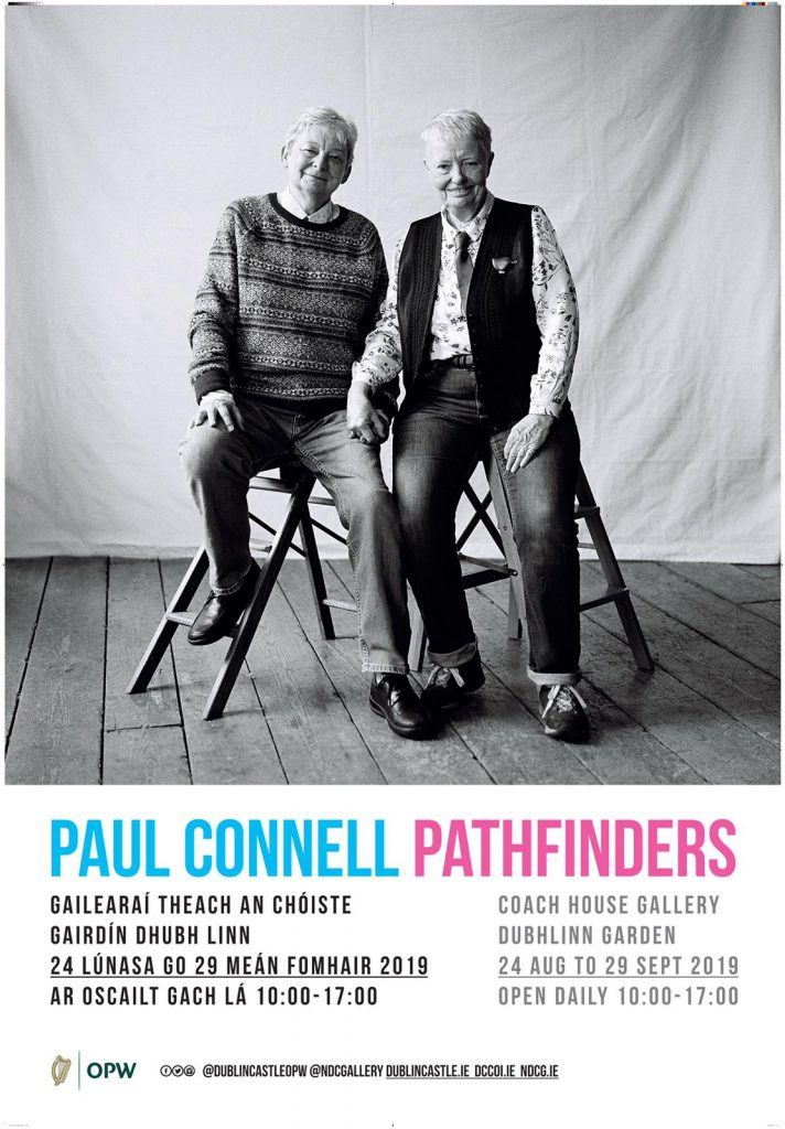 Pathfinders photographic portrait exhibition of older LGBT people in Ireland by Paul Connell