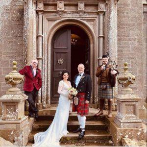 wedding photo from Balintore Castle, near Kirriemuir, Scotland