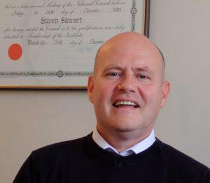 Portrait of Steven Stewart funeral director in Cupar, Fife